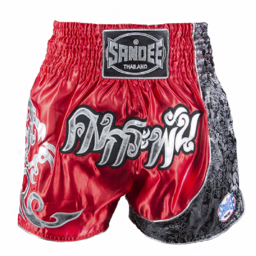 Sandee Unbreakable Muay Thai Shorts - Red